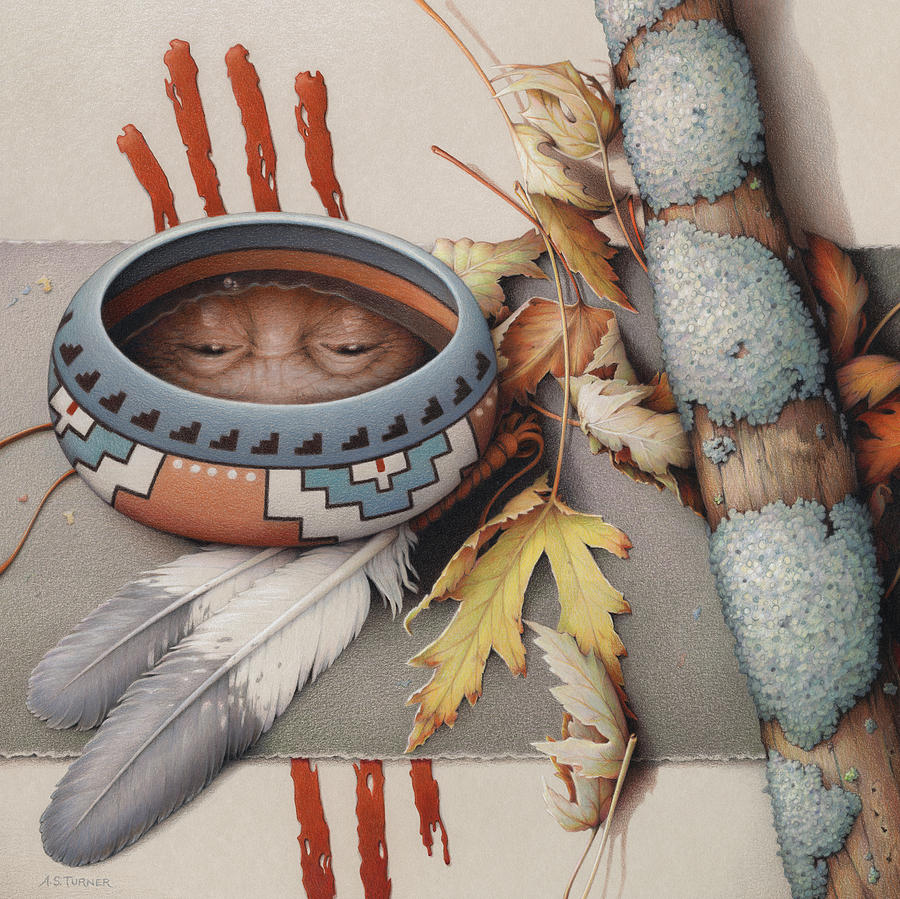 Colored Pencil Drawing - Season Of Remembrance by Amy S Turner