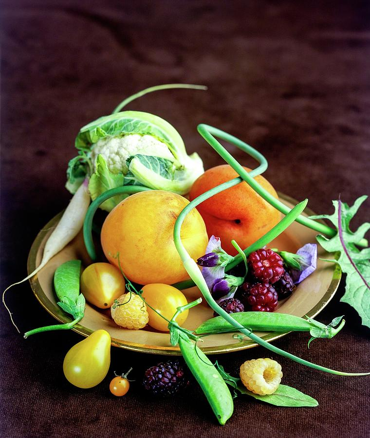 Seasonal Fruit And Vegetables Photograph by Romulo Yanes