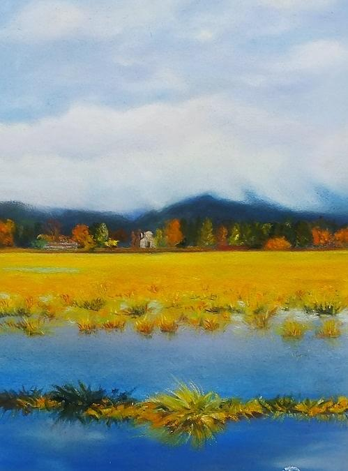 Skagit Valley Pastel - Seasonal Pond by Marie-Claire Dole