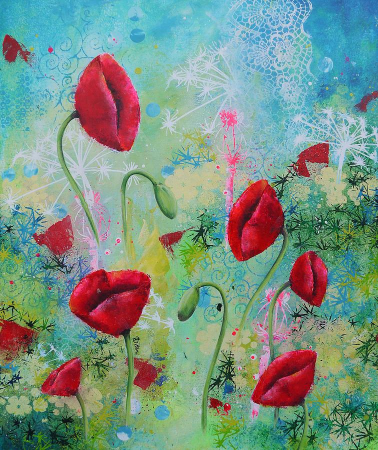 Summertime Painting - Seasons In The Sun 2 by Bitten Kari