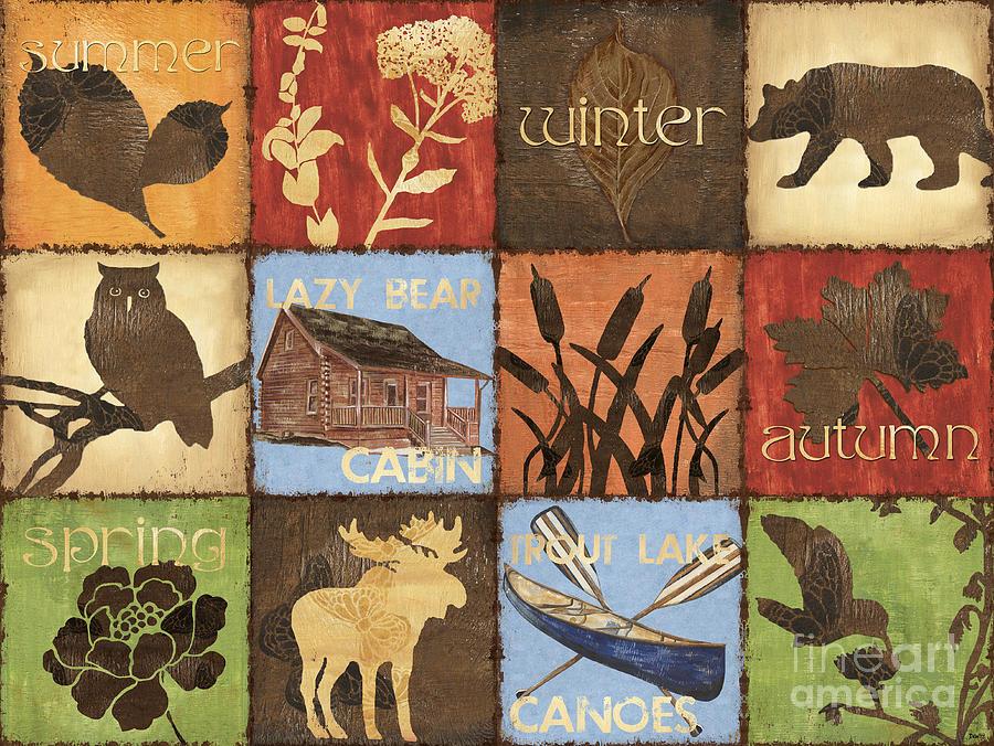 Lodge Painting - Seasons Lodge by Debbie DeWitt