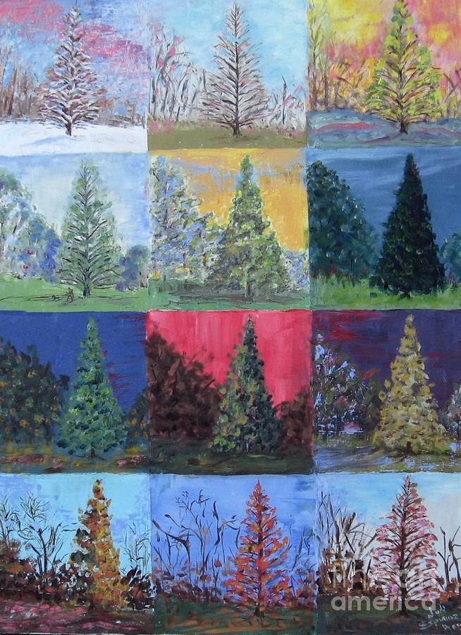 Seasons Of A Dawn Redwood - Sold Painting by Judith Espinoza