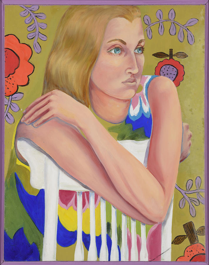 Seated Girl Painting by Illusions Maya
