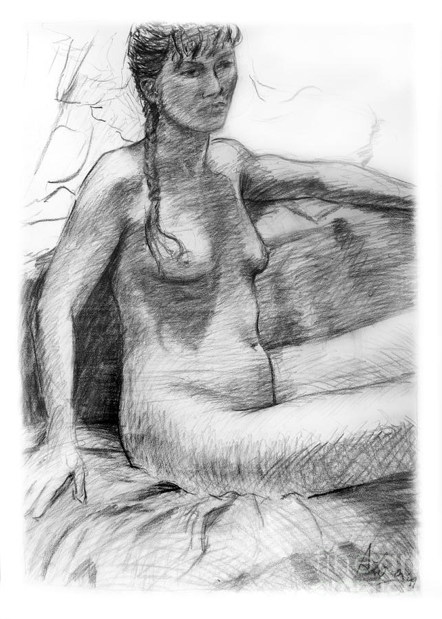drawing figure Nude female