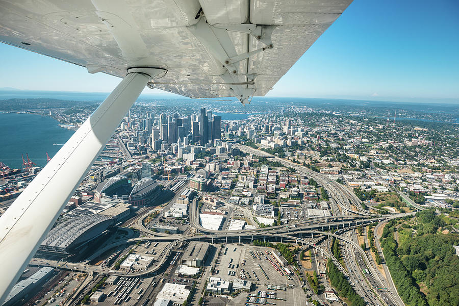 Seattle Aerial View Photograph by Franckreporter