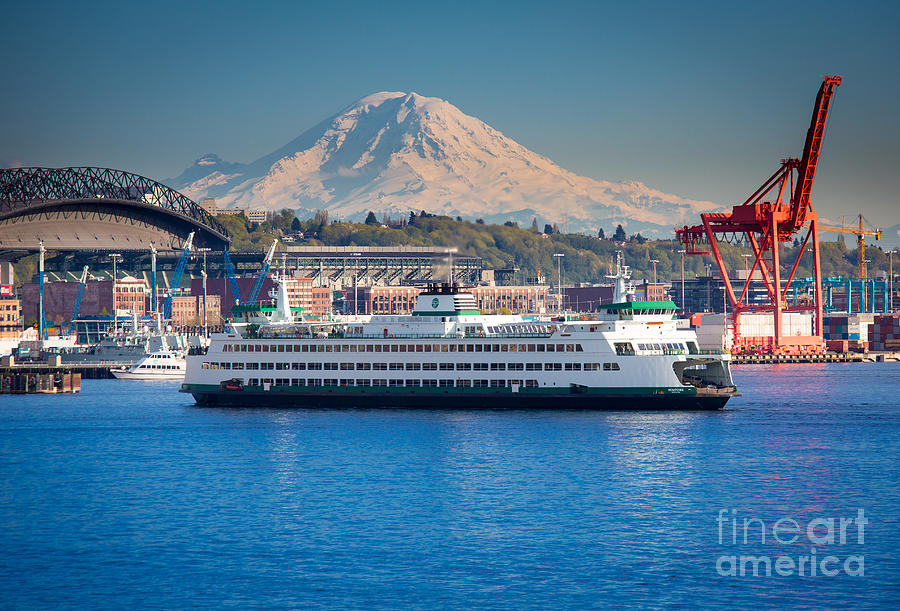 Seattle Photograph - Seattle Harbor by Inge Johnsson