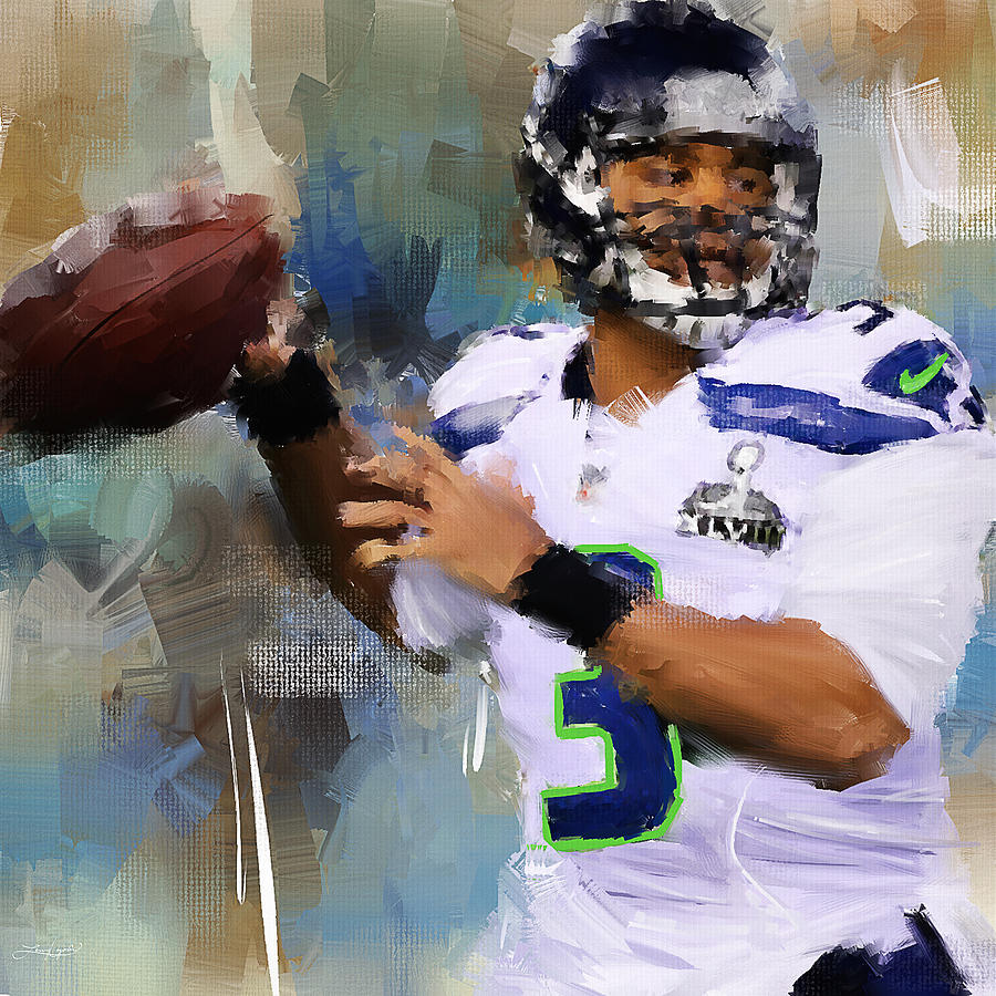 Russell Wilson Painting - Seattle Icon by Lourry Legarde