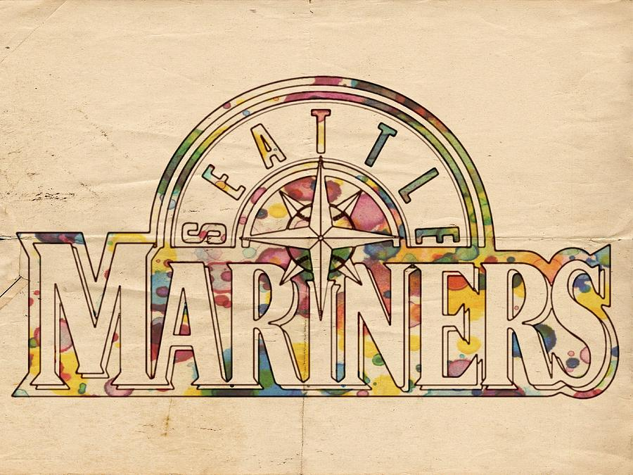 Seattle Mariners Painting - Seattle Mariners Poster Art by Florian Rodarte