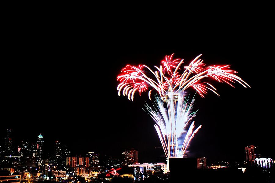 Seattle Photograph - Seattle New Years by Benjamin Yeager