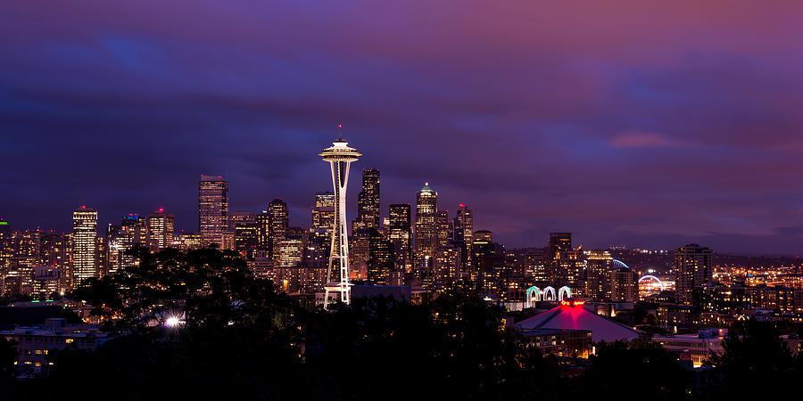 Seattle Photograph - Seattle Night by Chad Dutson