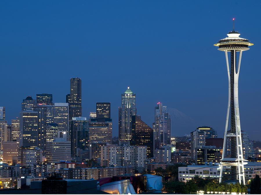 Seattle Photograph - Seattle Nights by David Yack