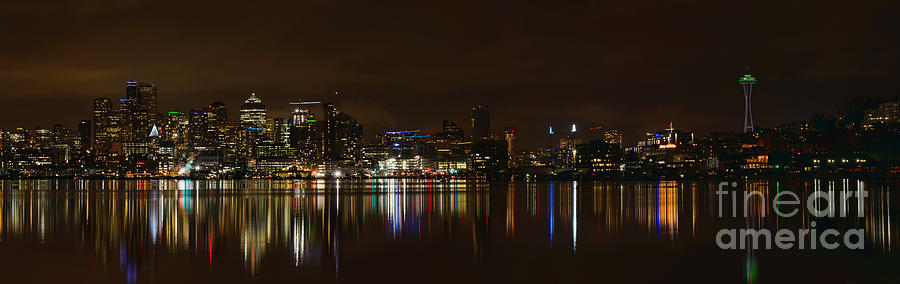 Seattle Photograph - Seattle Panorama by Eddie Yerkish