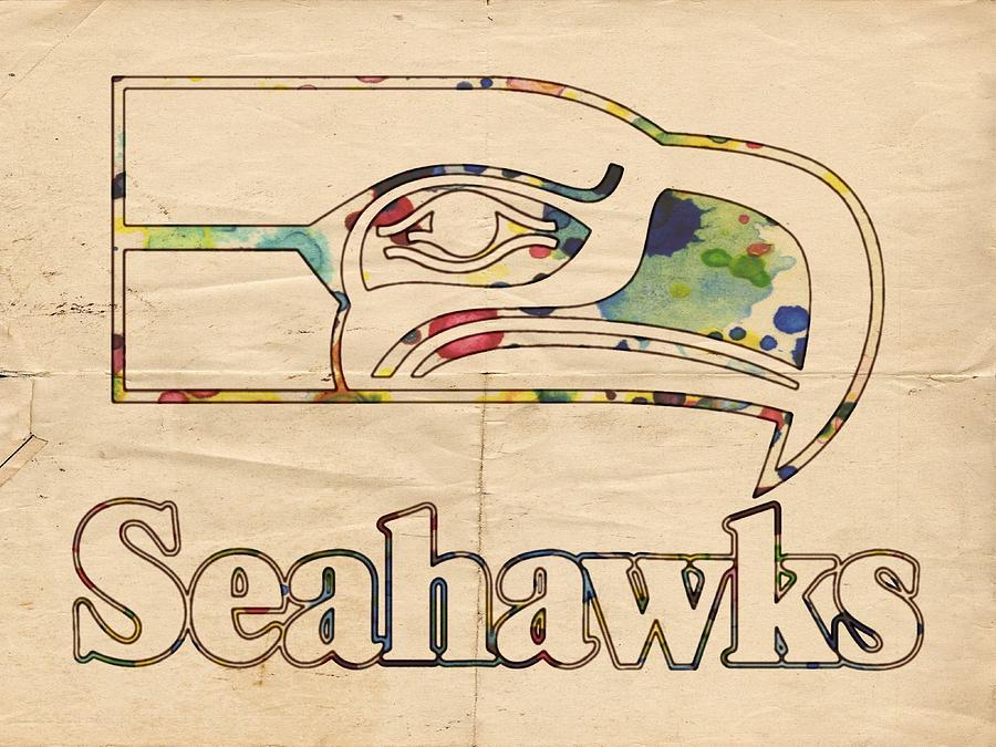 Seattle Seahawks Vintage Poster Painting by Florian Rodarte
