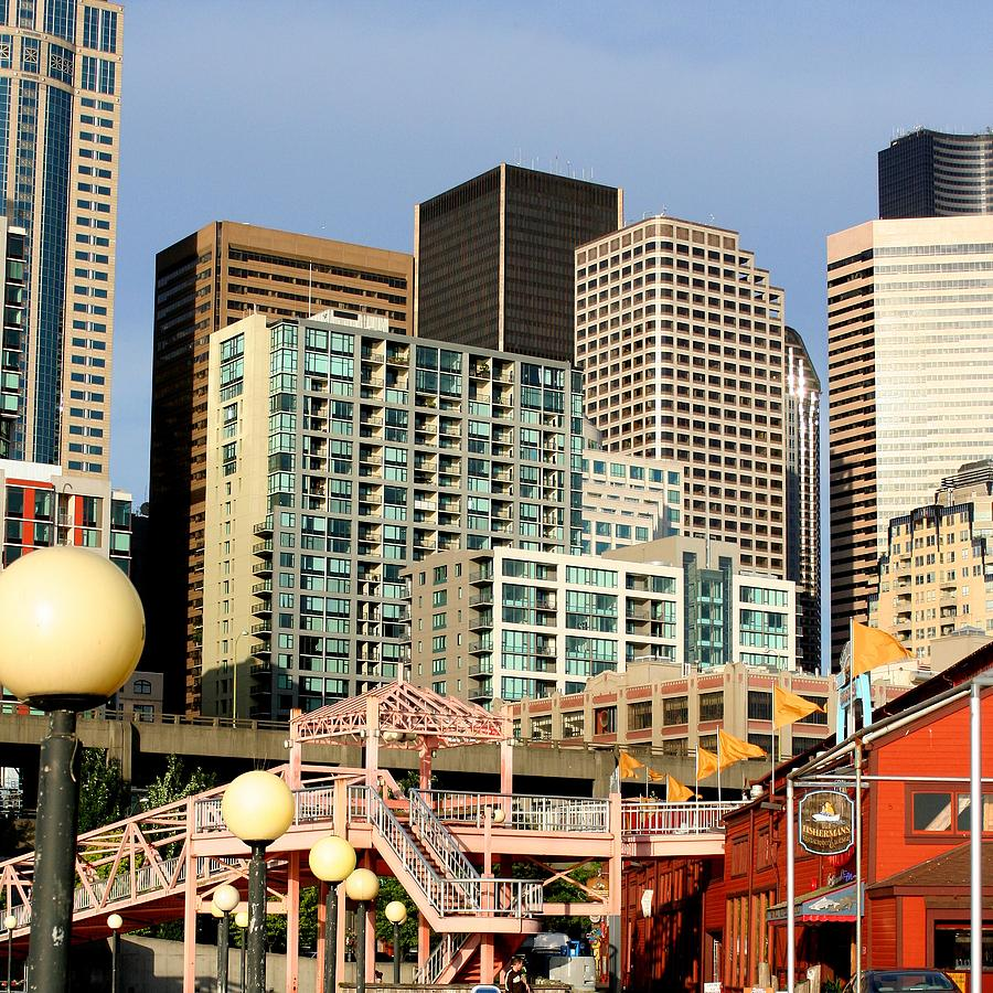 Seattle Photograph - Seattle Skyline. by Art Block Collections