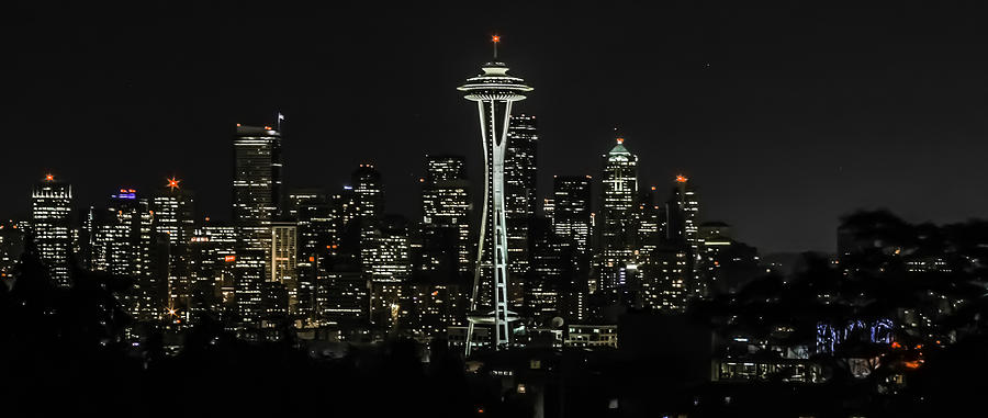 Kerry Park Photograph - Seattle Skyline From Kerry Park by CarolLMiller Photography