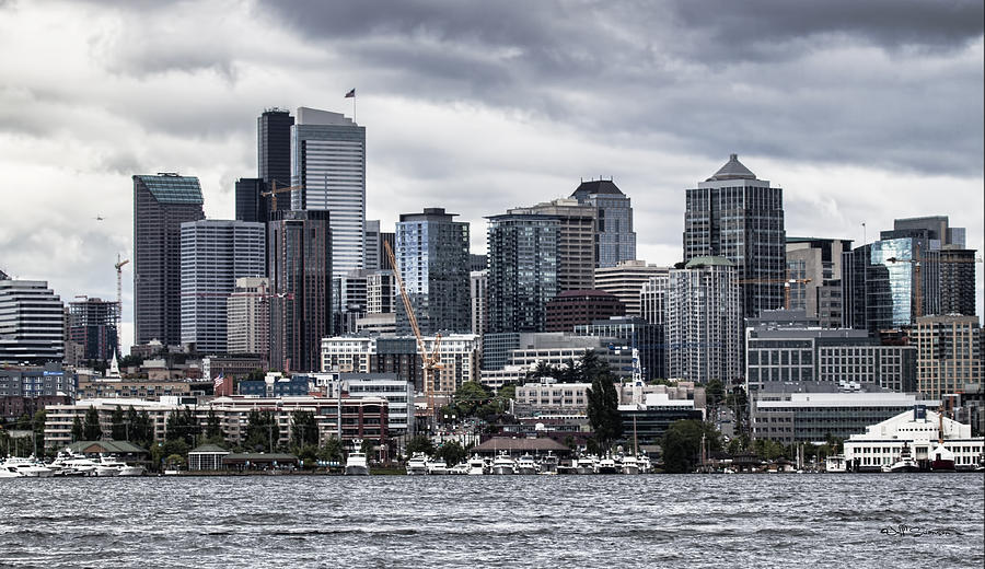 Seattle Photograph - Seattles Skyline by Jeff Swanson