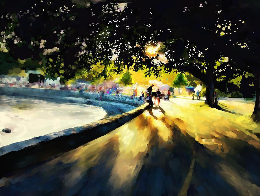 Seawall Painting By Gary Lyons
