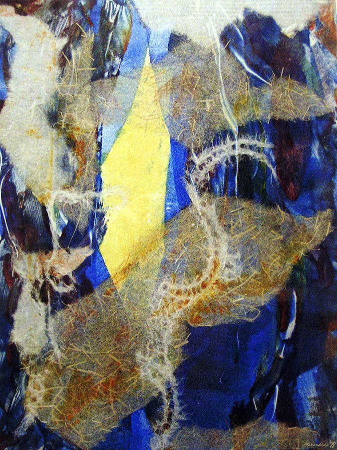 Abstract Painting - Seaworld by Alexandra Jordankova