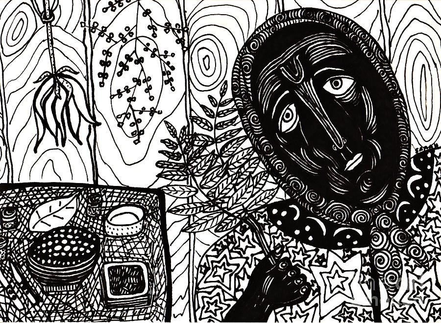 Sebastiana Drawing - Sebastiana by Sarah Loft
