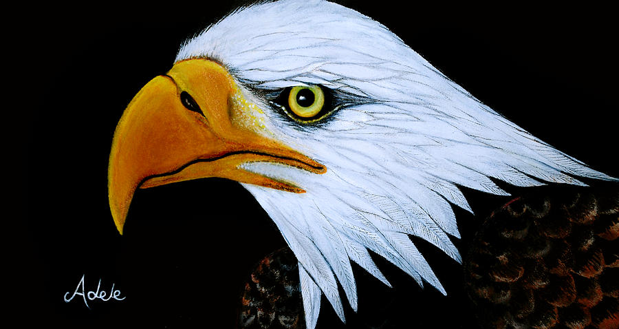 Eagle Painting - Sebaztian by Adele Moscaritolo