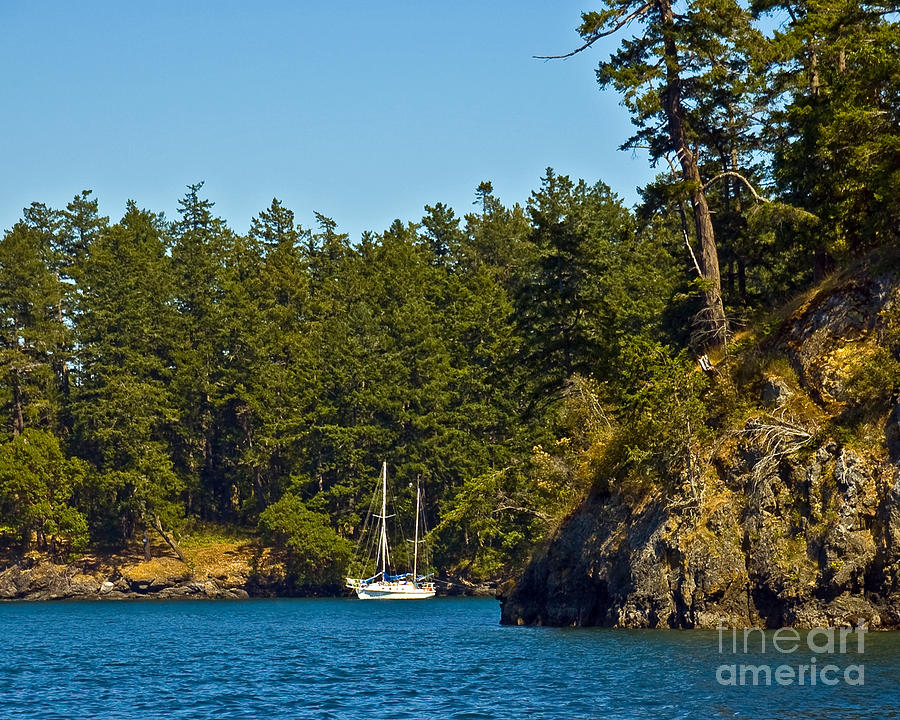 Boating Photograph - Secluded Anchorage by Chuck Flewelling