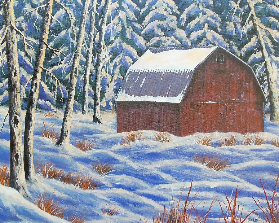 Barn Painting - Secluded Barn by Susan DeLain