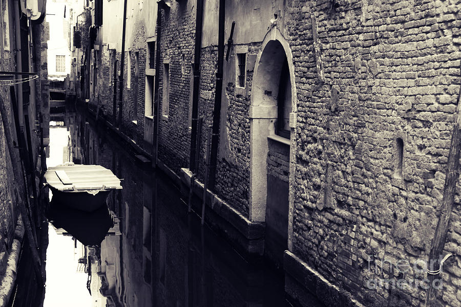 Venice Photograph - Secluded Canal In Venice by Ernst Cerjak