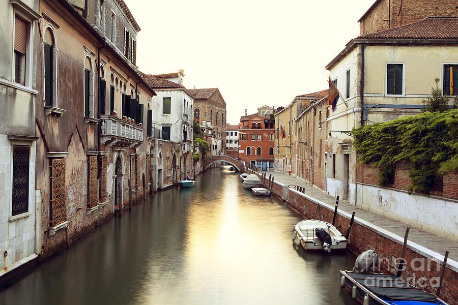 Venice Photograph - Secluded Canal In Venice Italy by Ernst Cerjak