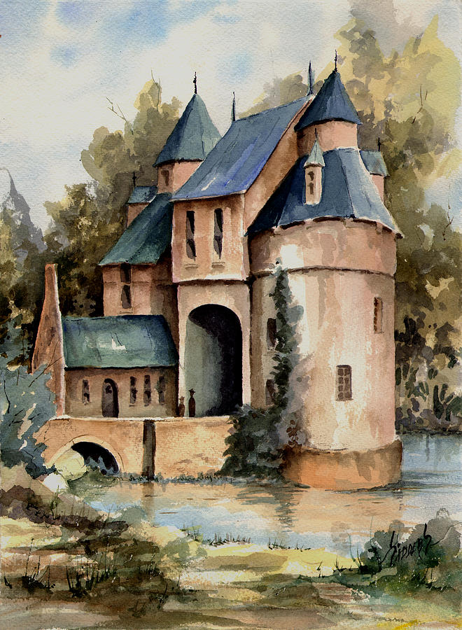 Secluded Painting - Secluded Castle by Sam Sidders