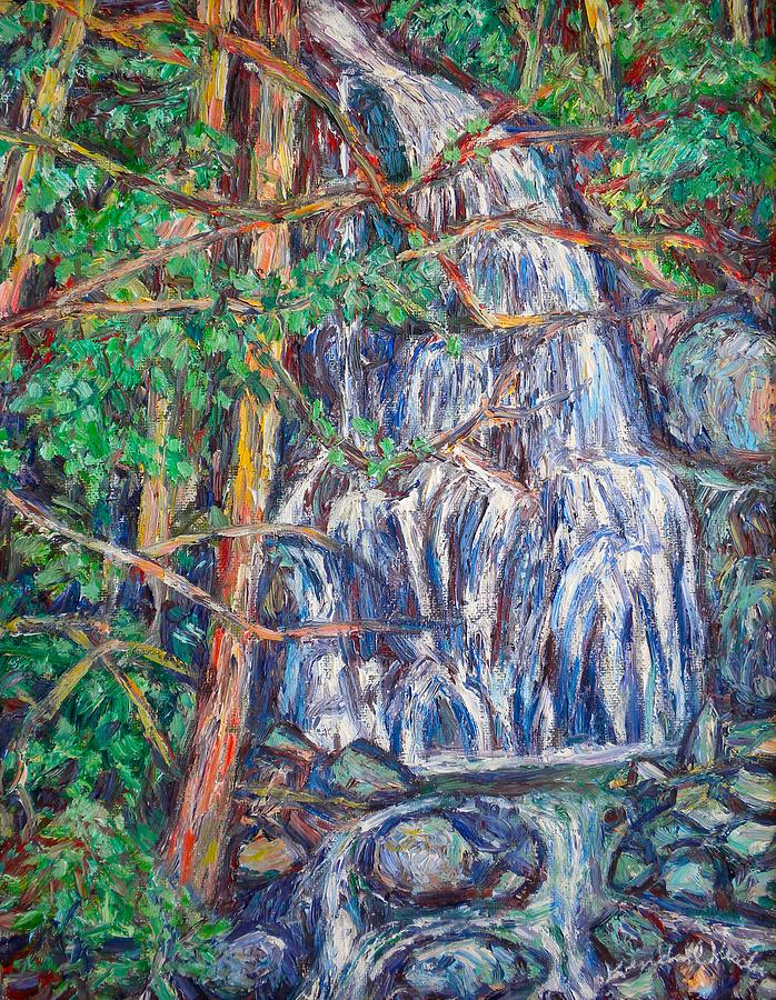 Waterfall Painting - Secluded Waterfall by Kendall Kessler