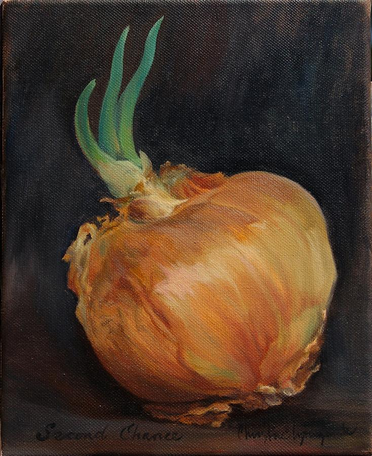 Onion Painting - Second Chance by Christine Lytwynczuk