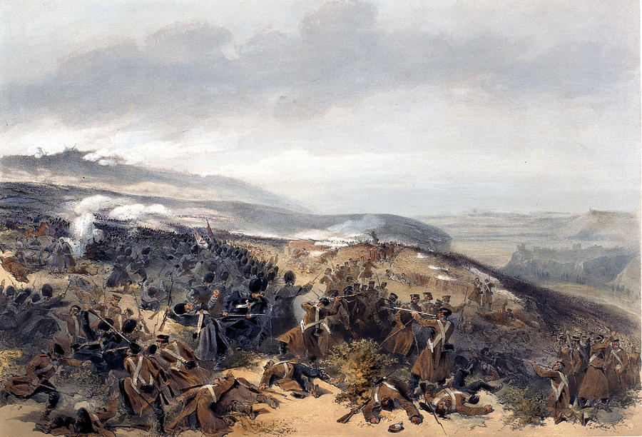 Battlefield Drawing - Second Charge Of The Guards When by William Crimea Simpson