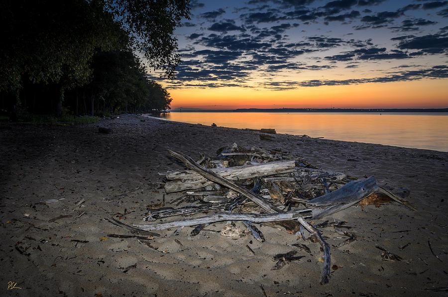 Driftwood Photograph - Seconds Before Potomac Sunrise by Pat Scanlon