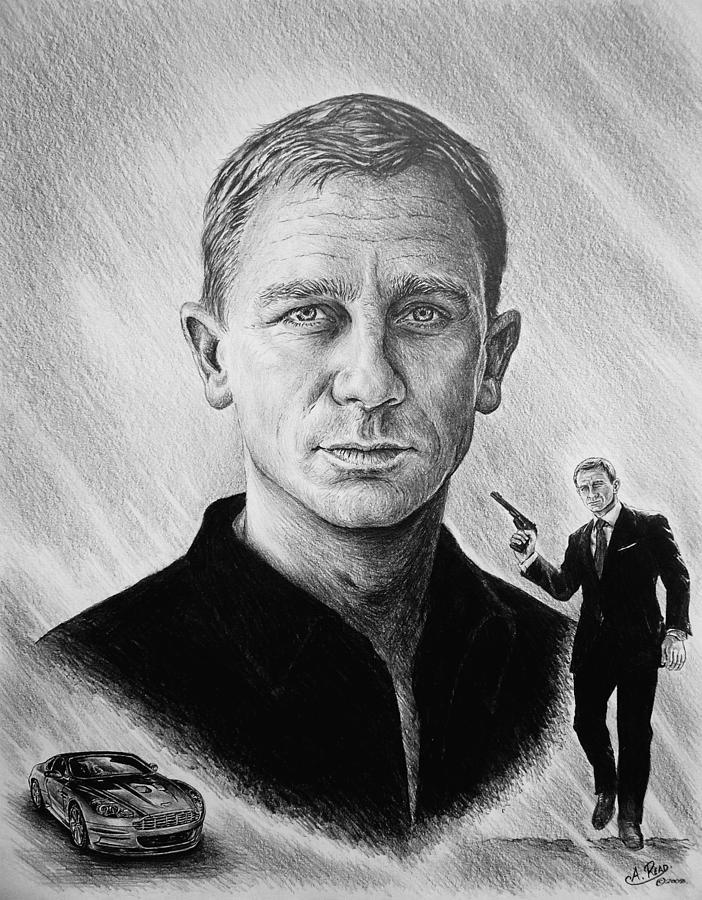 Daniel Craig Painting - Secret Agent by Andrew Read