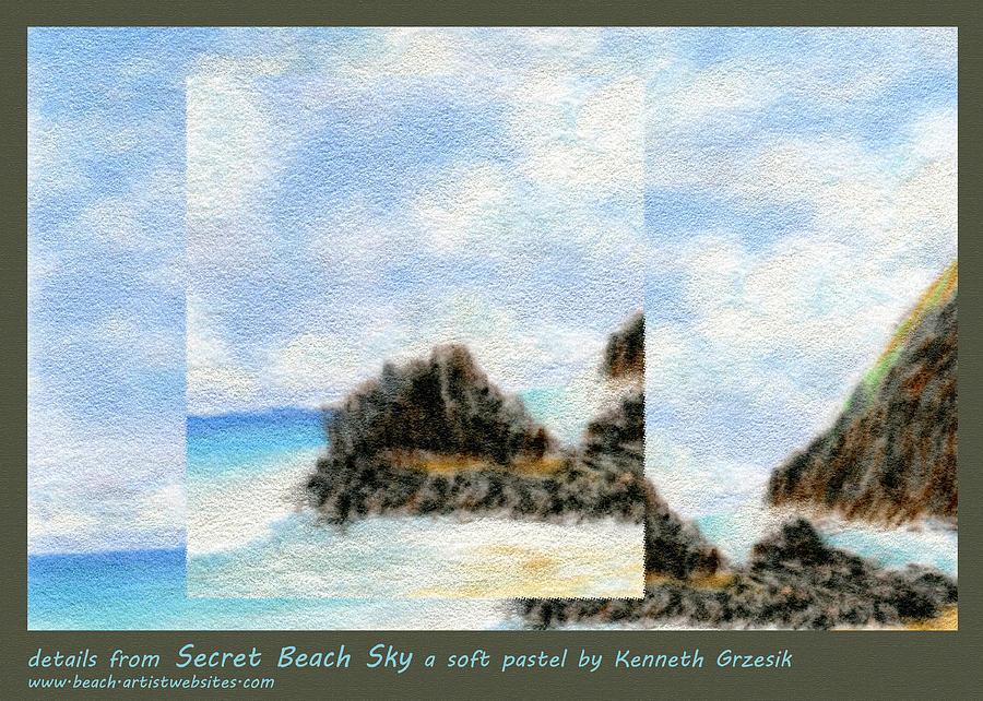 Tropical Warmth Photograph - Secret Beach Sky Details by Kenneth Grzesik