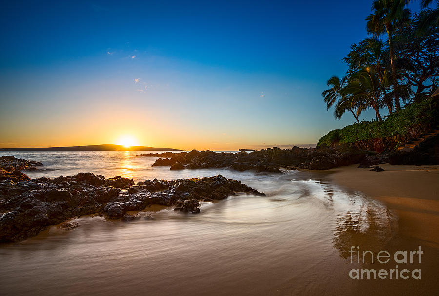 Secret Beach Photograph - Secret Beach Sunset by Jamie Pham
