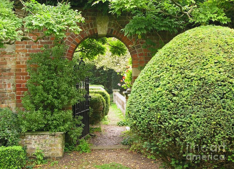 Garden Photograph - Secret English Garden by Ann Horn