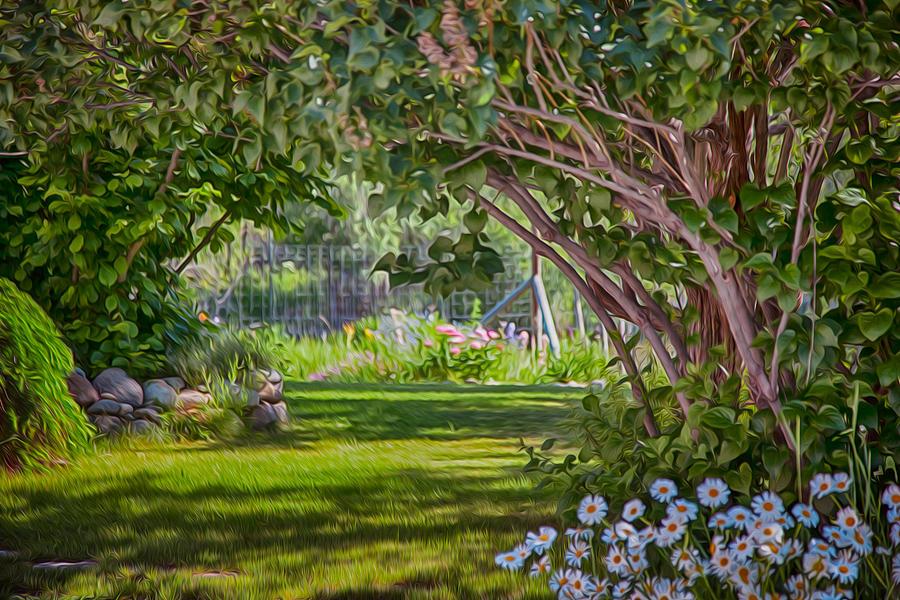 North Cascades Painting - Secret Garden by Omaste Witkowski