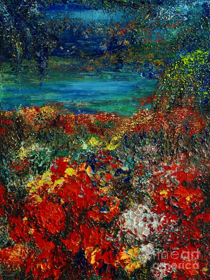 Garden Painting - Secret Garden by Teresa Wegrzyn