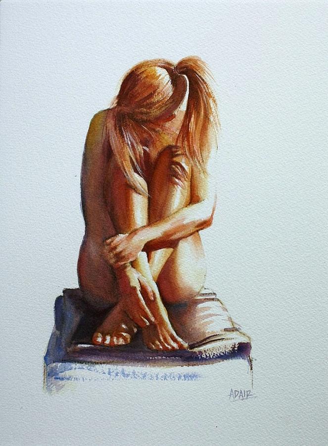 Female Nude Painting - Secret Life by Pauline Adair