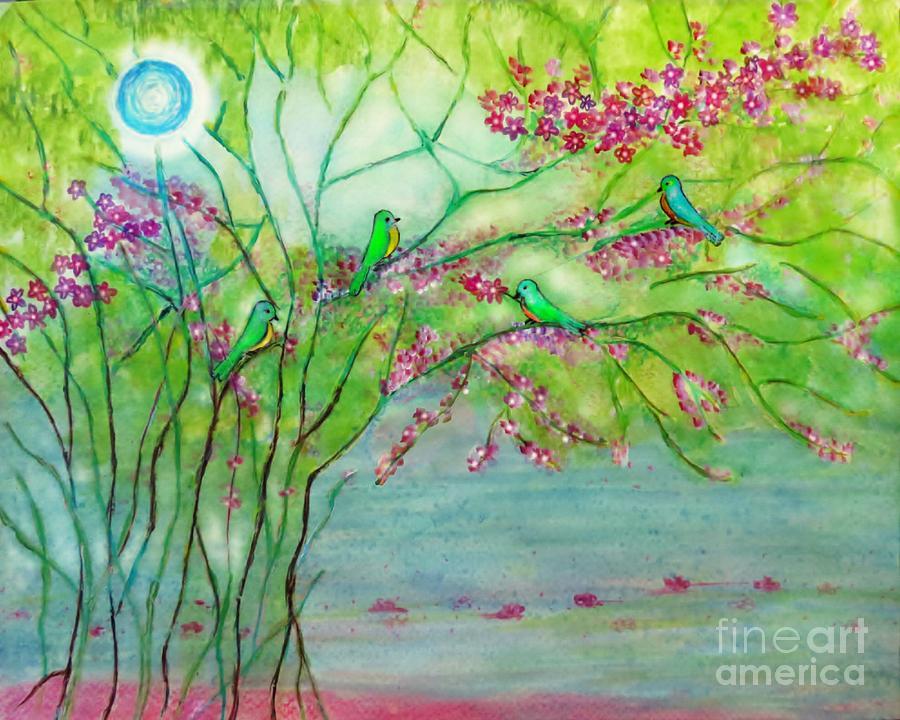 Lovers Den Painting - Secret Paradise Inner Bliss by Anjali Vaidya
