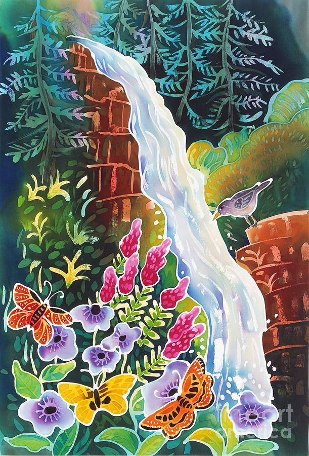 Waterfall Painting - Secret Waterfall by Harriet Peck Taylor