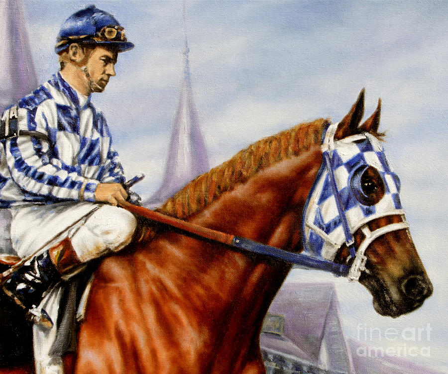Secretariat Painting - Secretariat at Churchill by Thomas Allen Pauly