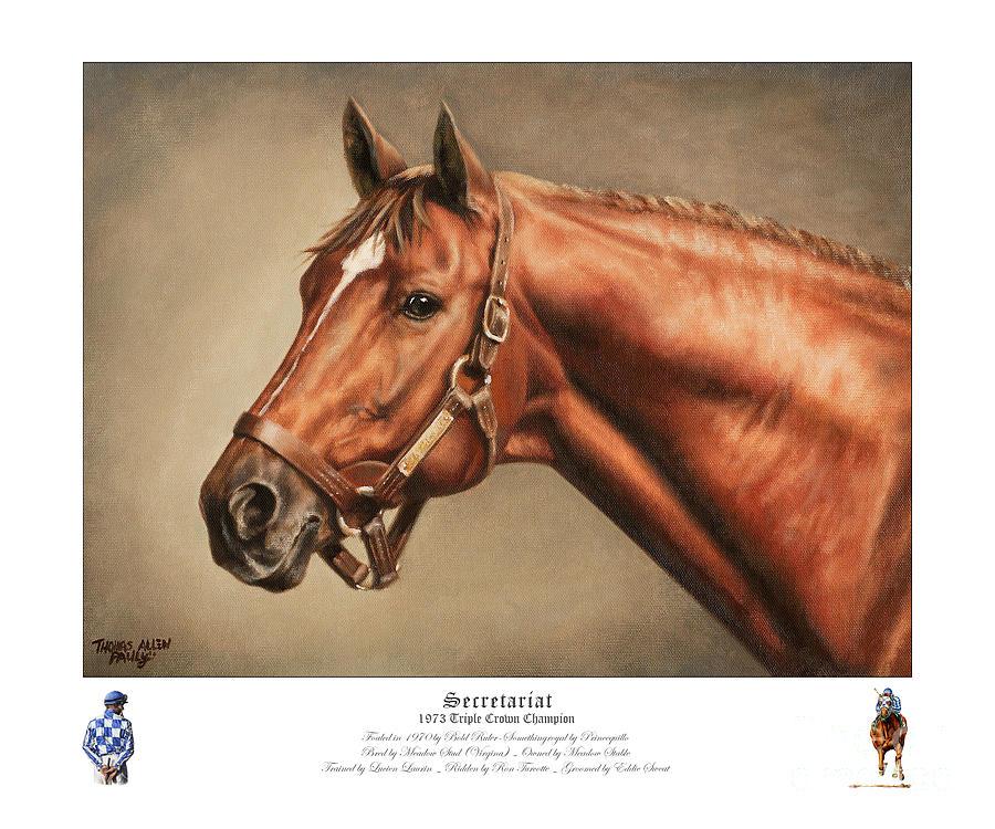 Secretariat Painting - Secretariat Legendary Champion by Thomas Allen Pauly