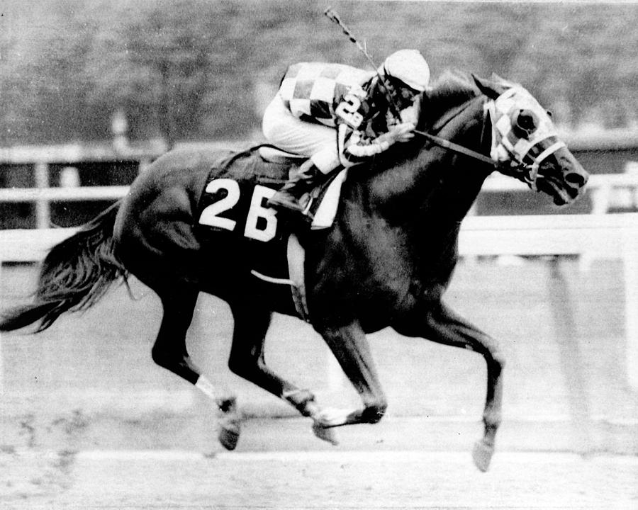 Classic Photograph - Secretariat Vintage Horse Racing #12 by Retro Images Archive