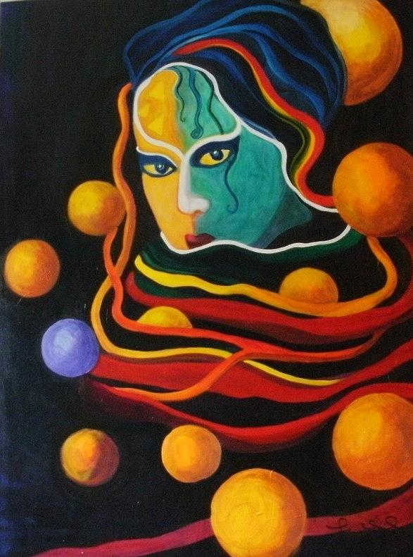Women Painting - Secrets by Carolyn LeGrand