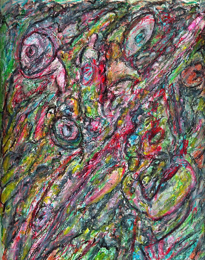 Secrets Of The Subconscious Pastel by Yuri Lushnichenko