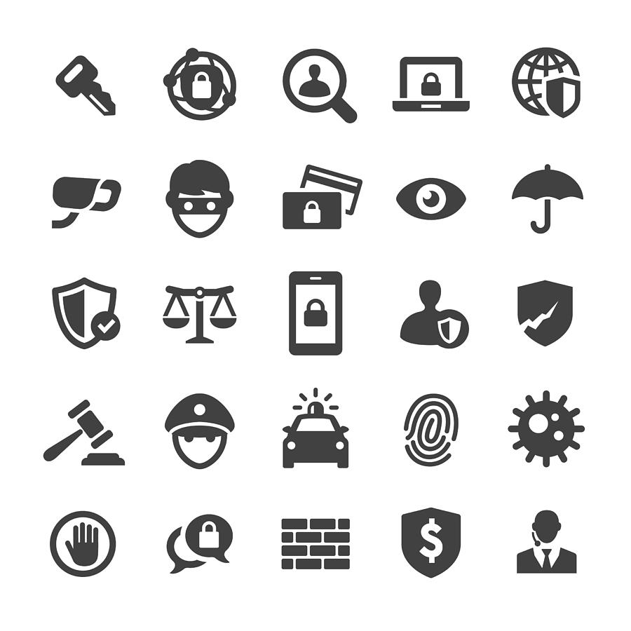 Security Icons Set - Smart Series Drawing by -victor-