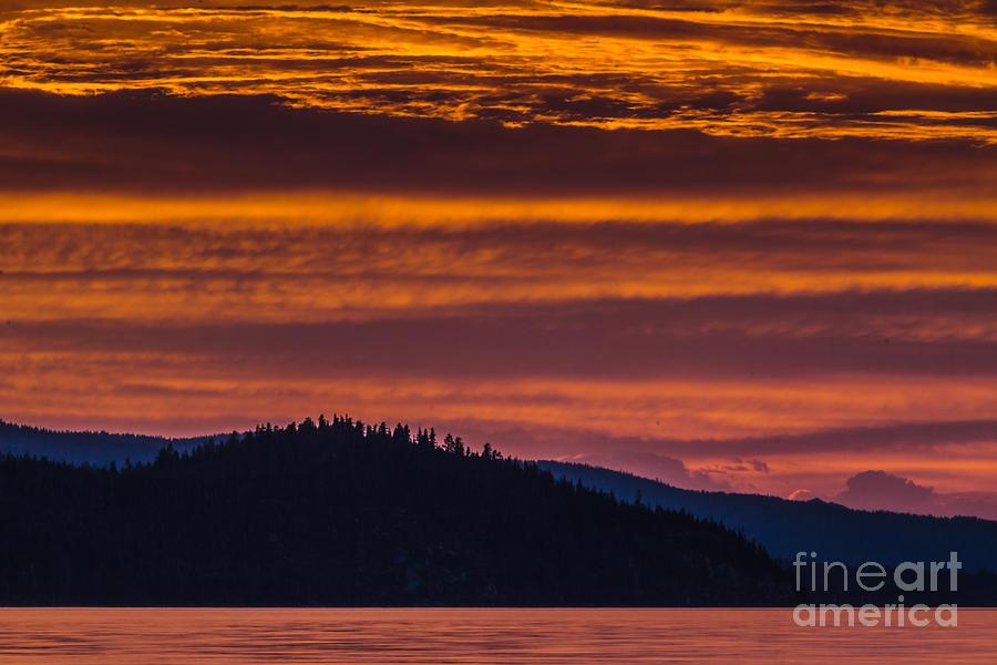 Sunset Photograph - Sedimentary Sunset by Mitch Shindelbower