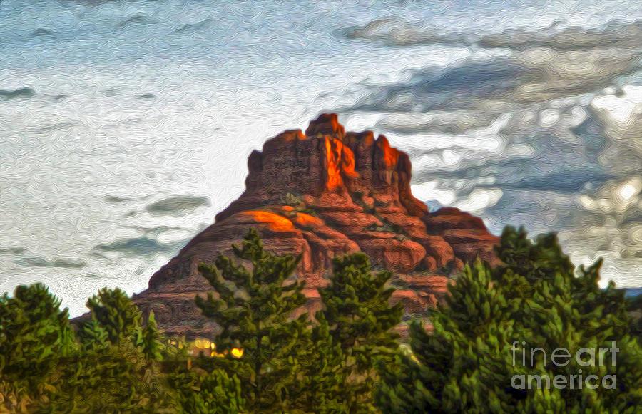 Sedona Arizona Painting - Sedona Arizona Bell Rock Painting by Gregory Dyer